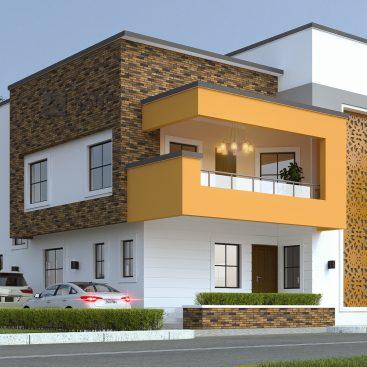 3 Bedroom Bungalow Interior And Exterior Views Bam Design Consults Ltd